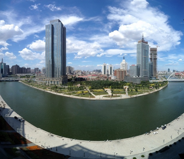 Tianjin Heping River and Italian District, Seen From St Regis Hotel