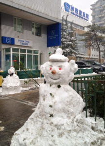 Snowman Winter Beijing United Family Hospital